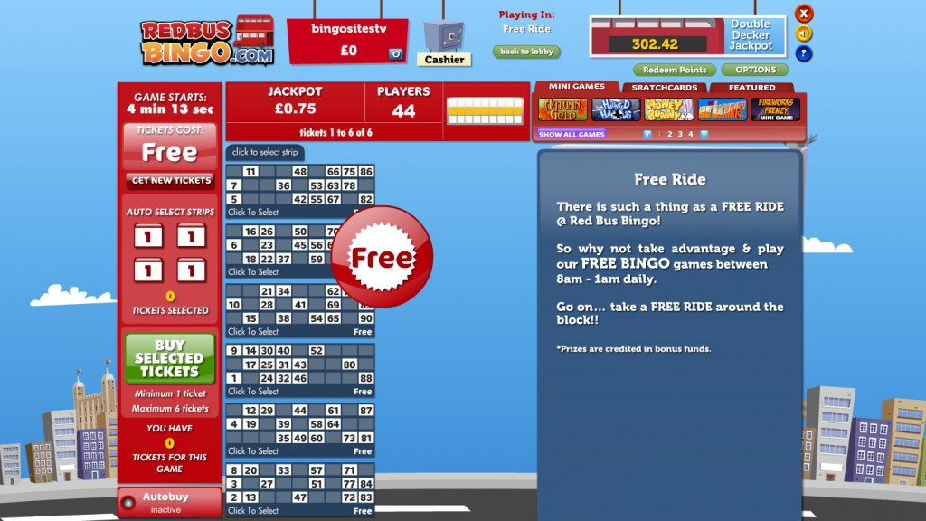 redbus bingo